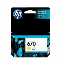 Cartucho hp 670 amarillo p...