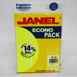 Etiqueta amarilla econopack...