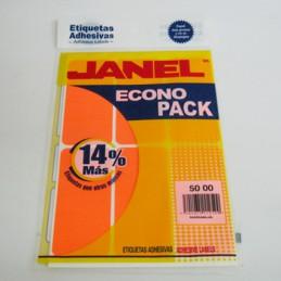 Etiqueta naranja econopack...