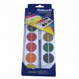 Acuarelas master 12 colores