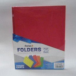 Folder carta intenso rojo 25pz