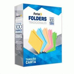 Folder carta azul 100pz