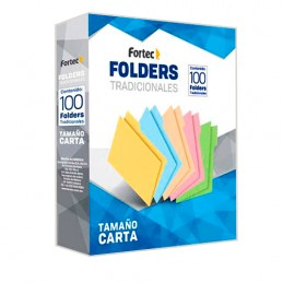 Folder carta amarillo