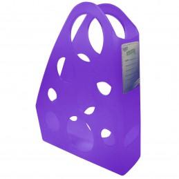 Revistero de plastico violeta